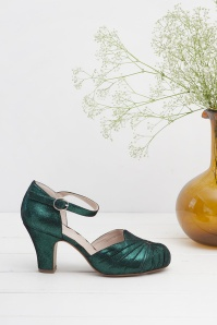 Miss L Fire Amber Green Sparkle Mary Jane Pumps 402 40 25412 07112018 005