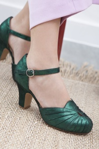 Miss L Fire Amber Green Sparkle Mary Jane Pumps 402 40 25412 07112018 002