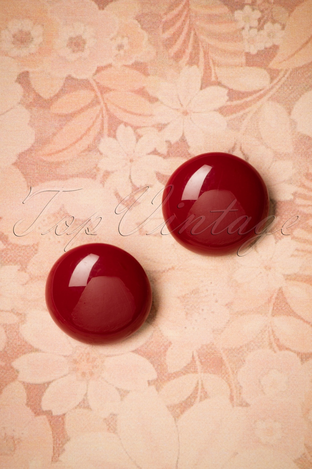60s -70s Jewelry – Necklaces, Earrings, Rings, Bracelets 60s Fayen Earstuds in Burgundy £9.75 AT vintagedancer.com