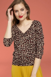 King Louie Deep V Panther Top in Beige 25318 20180724 01