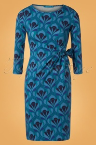 Lien en Giel Retro Blue Dress 100 39 25456 20180824 0005W
