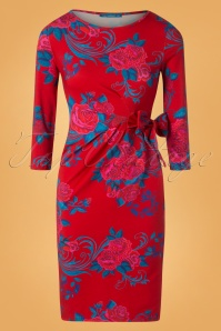 Lien en Giel Red Roses Dress 100 27 25457 20180824 0001W