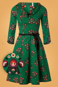 Blutsgeschwister So Long Lonely Green Floral Dress 102 49 26059 20180828 0004W1