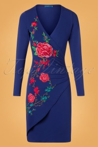 Lien en Giel Cobalt Embroidery Floral Dress 100 30 25458 20180824 0003W