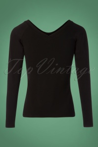 Lien en Giel Black Laval Embroidery Top 113 10 25459 20180824 0008W