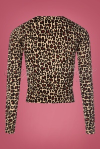 King Louie 60s Roundneck Leopard Cardigan 140 58 25317 20180829 0004W
