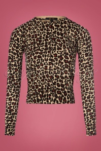 King Louie 60s Roundneck Leopard Cardigan 140 58 25317 20180829 0003W