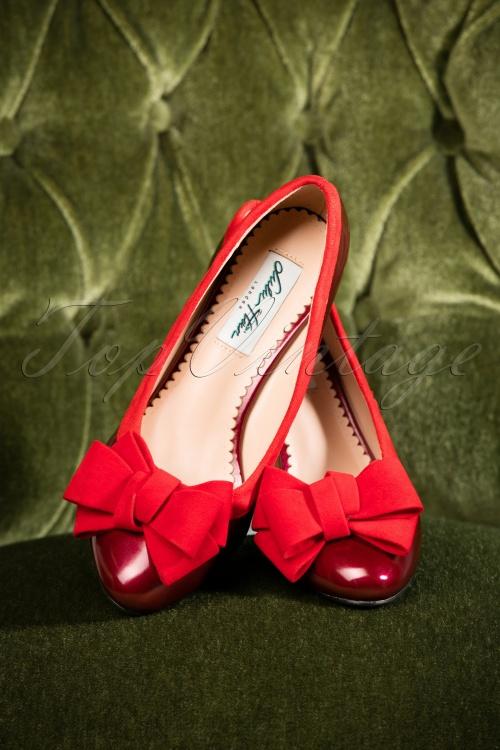 Lulu Hun Mara Burgundy Block Heel Shoes 400 60 25600 08302018 004W