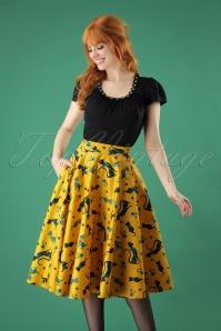 Vixen Lucy Mustard Swing Skirt 122 89 25019 20180829 01W