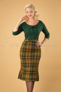 Vixen Stella Plaid Pencil Skirt 120 89 25020 20180829 01W