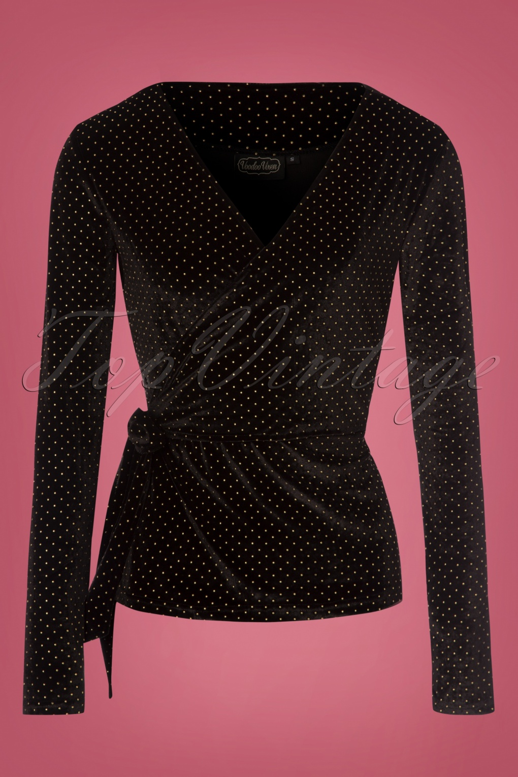 Vintage & Retro Shirts, Halter Tops, Blouses Maria Gold Speckled Top in Black £32.99 AT vintagedancer.com