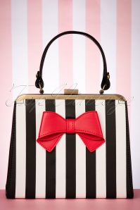 50s Inez Heritage Handbag in Black and White