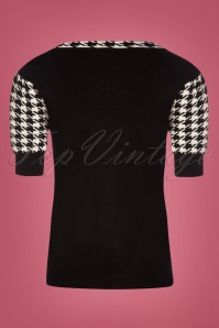 Vixen Kimberly Houndstooth Black Top 113 14 25049 20180829 0002W