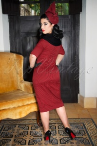 Greta Pencil Dress Red & Black 3W