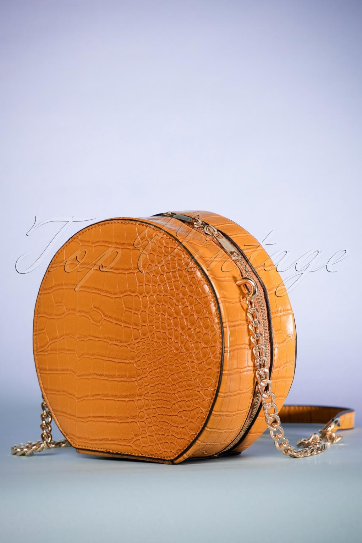 Vintage & Retro Handbags, Purses, Wallets, Bags 70s See Ya Later Alligator Bag in Mustard £20.75 AT vintagedancer.com