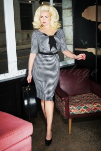Glamour Bunny Jacky Gingham Pencil Dress 25741 20180619 0009W