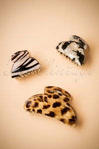 Hair Clip Set in Animal