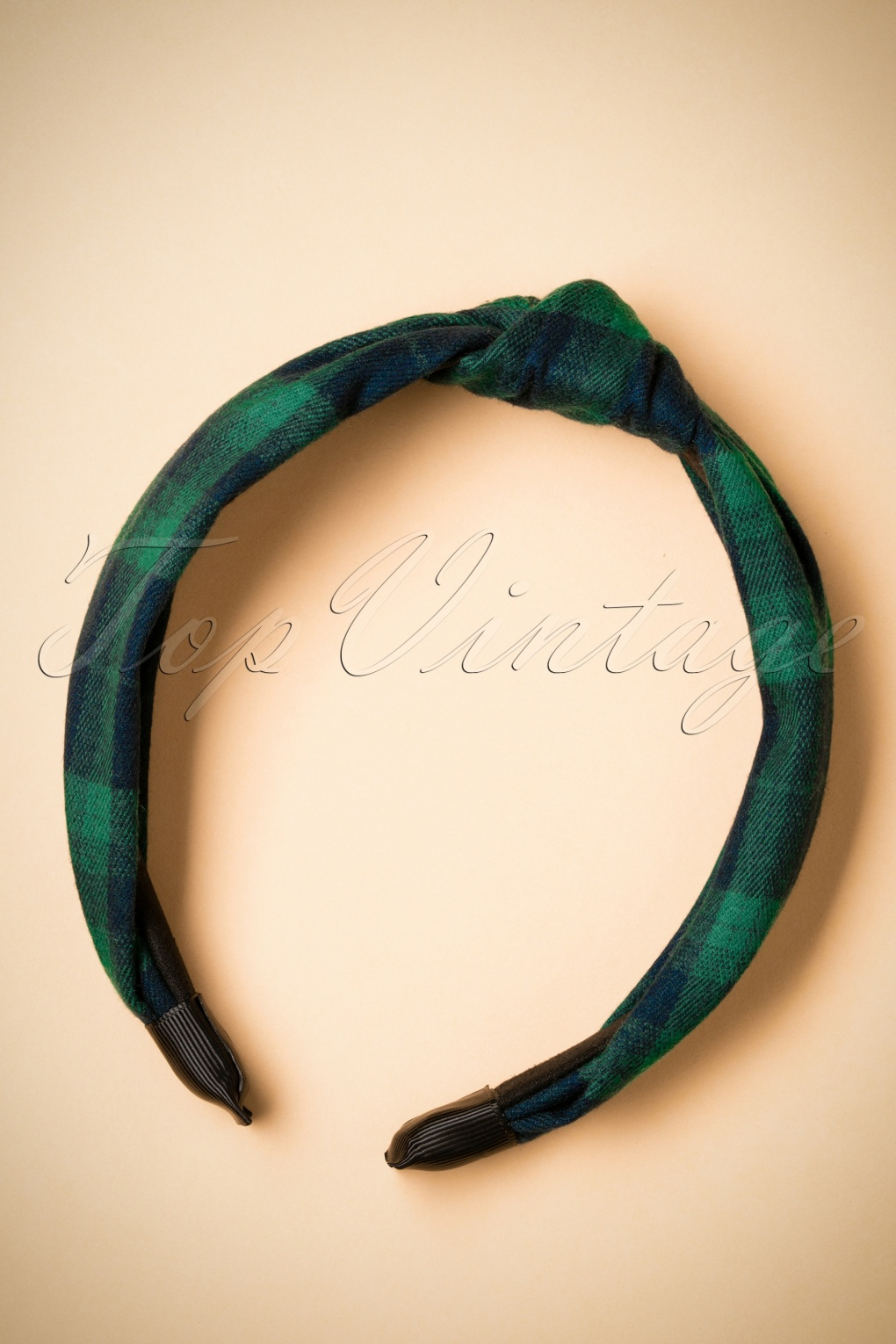 Vintage Hair Accessories: Combs, Headbands, Flowers, Scarf, Wigs 50s Tartan Hairband in Green and Navy £9.60 AT vintagedancer.com