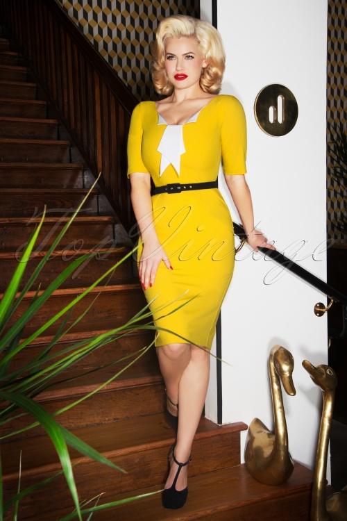 Glamour Bunny Jacky Yellow Pencil Dress 25742 20180619 0010W