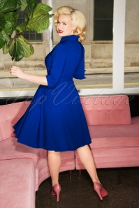 Glamour Bunny Lorelei Swing Dress in Royal Blue 25753 20180622 2W