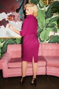 Glamour Bunny Lorelei Pencil Dress in Cerise 25752 20180625 0015W