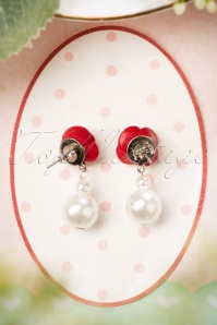 Sweet Cherry Rose Pearl Earrings 333 57 26986 08302018 005W