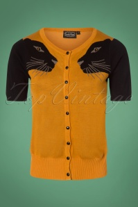 Vixen Tiger Cardigan In Mustard 140 80 25046 20180829 0002W