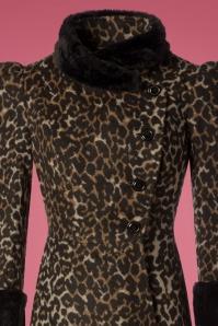 Vixen Violet Faux Fur Leopard Coat 152 79 25060 20180828 0007V