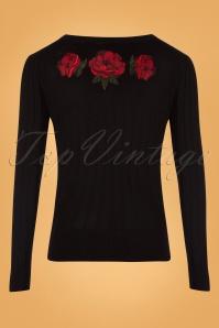 Vixen Floral Black Cardigan 140 10 25047 20180829 0011W