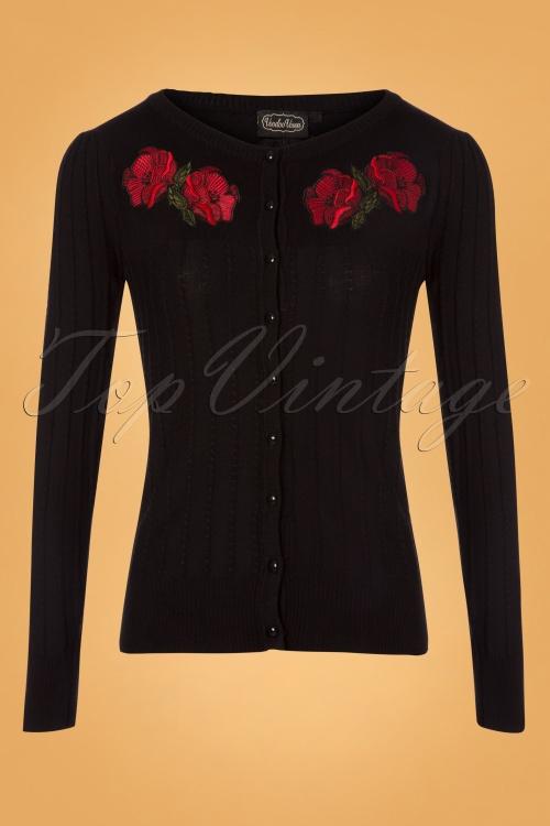 Vixen Floral Black Cardigan 140 10 25047 20180829 0003W