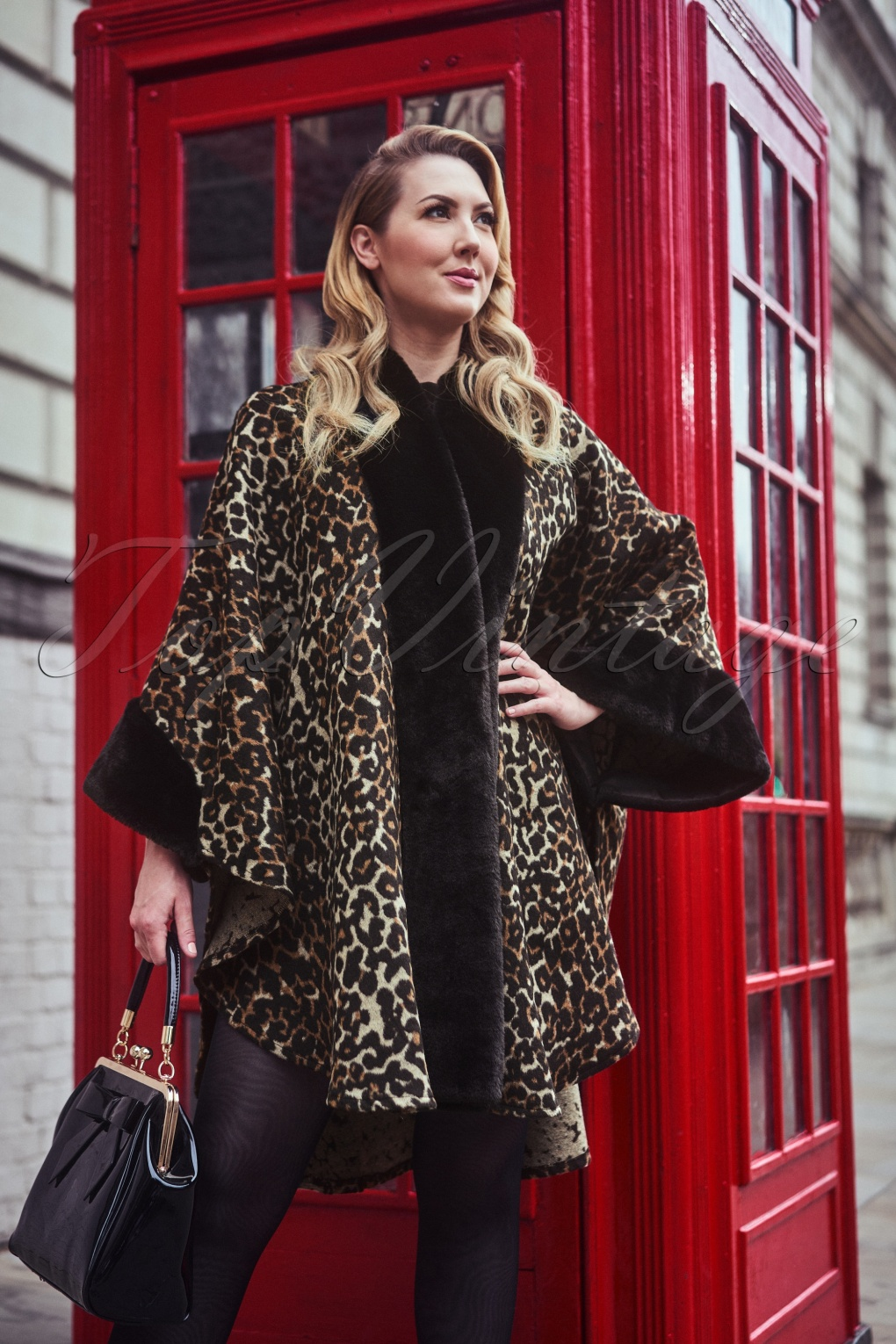 1950s Jackets, Coats, Bolero | Swing, Pin Up, Rockabilly 50s Liliana Faux Fur Cape in Leopard £48.27 AT vintagedancer.com