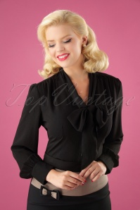 Vixen 40s Madeline Blouse in Black