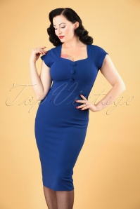 Vintage Chic 50s Sandy Dress Blue 100 30 26405 20180810 1W