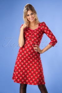 Tante Betsy Lola Strawberry Dress in Red 106 27 25441 20180727 1W