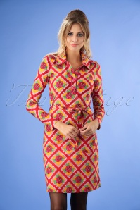 Tante Betsy Bobbie Roses Dress in Orange and Red 106 28 25432 20180727 1W