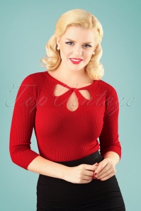 50s Lylou Jumper in Red