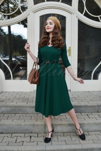 Vintage Chic Scuba Crepe Sweetheart Neckline Teal  Dress 102 20 2370920161026 0019W