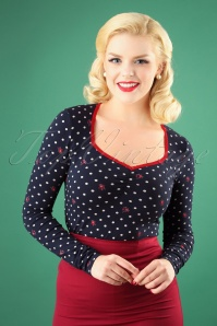 Blutsgeschwister Mary Lous Long Sleeve Polkadot Top 113 39 26042 20180731 1W