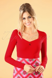 Blutsgeschwister Red Long Sleeve Top 113 22 26055 20180731 000W