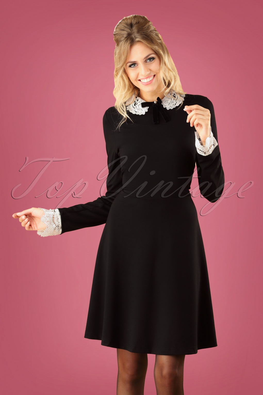 1960s Dresses | 60s Dresses Mod, Mini, Jakie O, Hippie 60s Ricci Dress in Black £57.07 AT vintagedancer.com