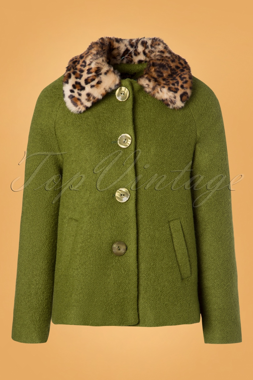 Vintage Coats & Jackets | Retro Coats and Jackets 60s Loretta Razzmataz Coat in Posey Green £131.42 AT vintagedancer.com