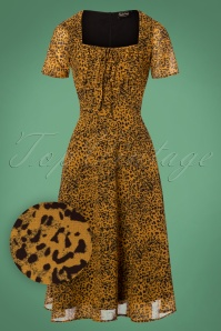 Vixen Mustard Leopard Dress 24996 20180831 0004W1