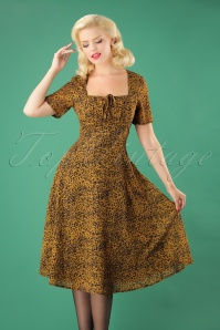 Vixen Mustard Leopard Dress 24996 20180831 01W