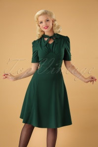 50s Audrey Tea Dress in Green