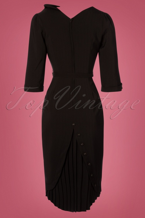 40s Veronica Pencil Dress In Black