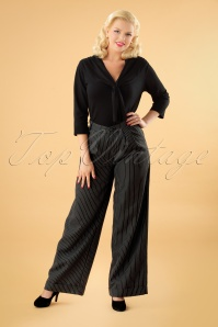 Vixen Grey Striped Pants 131 19 25043 20180905 1W
