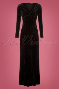 50s Morticia Maxi Dress in Black