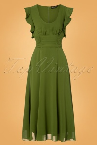 Vixen Amelia Olive Long Green Dress 25001 20180831 0002W