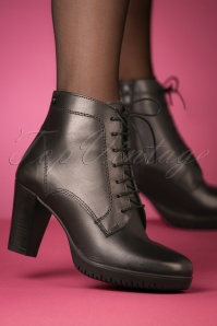 Tamaris Booties in Black 430 10 25783 model 08152018 003W