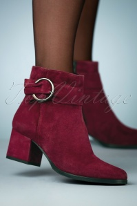 70s Misty Suedine Ankle Booties in Merlot